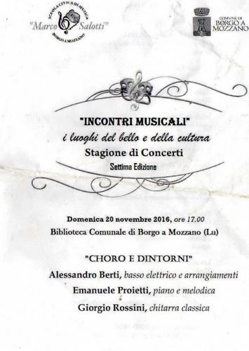 a choro for saint cecilia at borgo a mozzano
